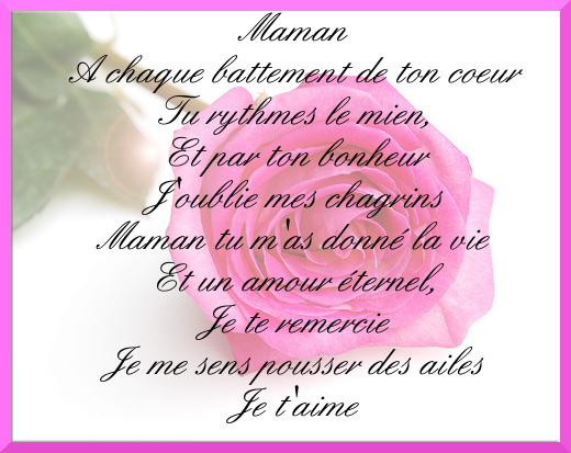 Poeme Amour Poeme Maman